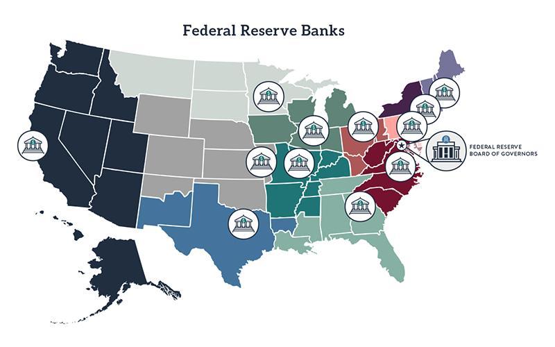 Federal Bank Map 2020
