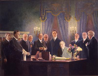 Signing of the Federal Reserve