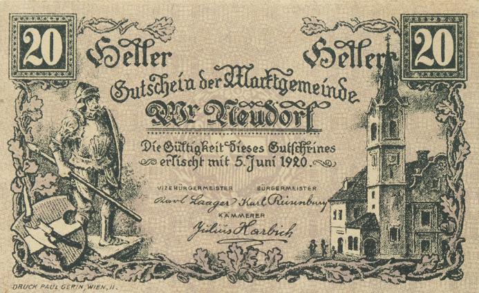 Austrian notgeld city municipal