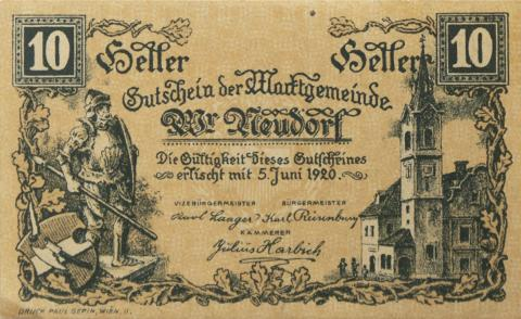 Austrian notgeld credit money wwi