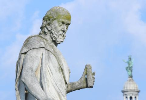 Statue of Galileo Galilei on plaza Prato della Valle