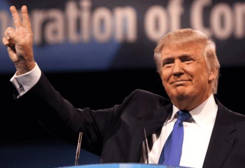 Trump Peace Sign