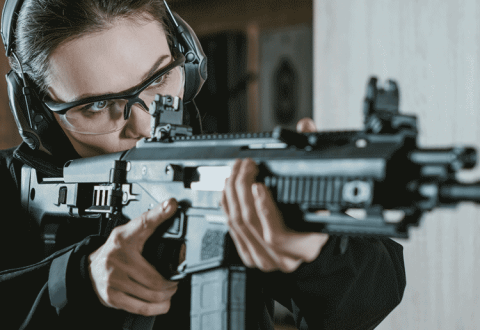 Woman with AR Rifle