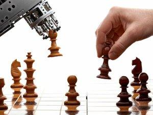 Robots playing chess