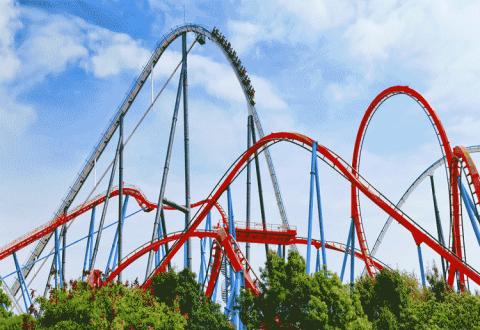 Roller Coaster Great Recession 2020 Crash