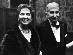 Margit and Ludwig von Mises at Festschrift dinner