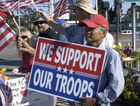 troops